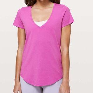 Lululemon Love Tee V Hyacinth Pink Size 6